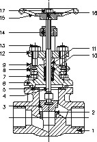 Forged Steel Globe Valve Class 1500 304 Screwed Ends